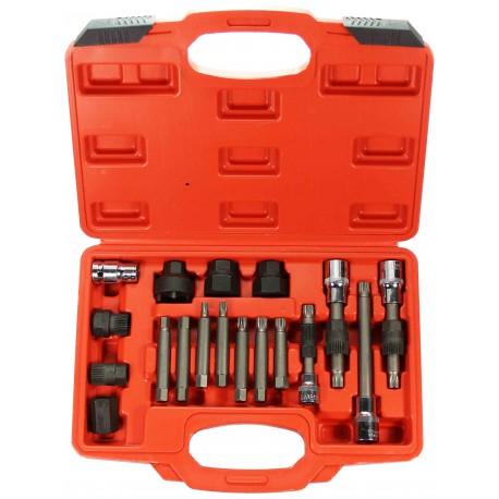 Zestaw kluczy do alternatorów 18 elementowy