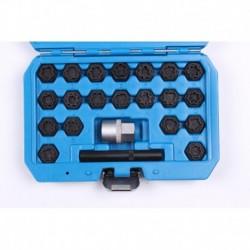 Zestaw nasadek do śrub kół zabezpieczających 22 elem AUDI