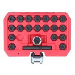 Zestaw kluczy do śrub kół zabezpieczających 22 elem BMW