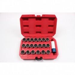 Zestaw kluczy do śrub kół zabezpieczających 21 elem BMW